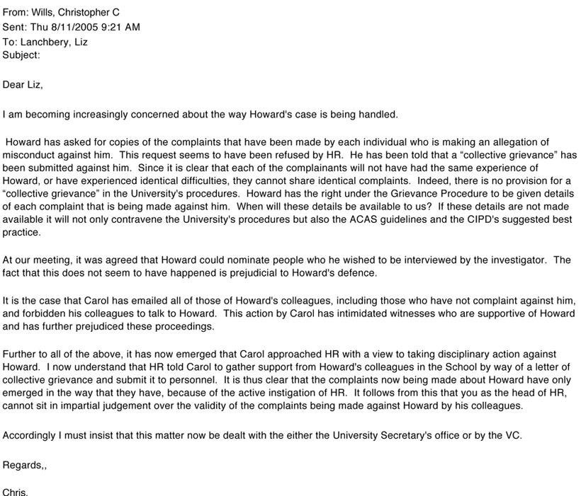 picture Sample Unfair Treatment Letter of Complaint